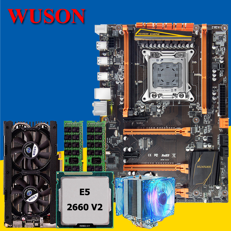 HUANAN deluxe X79 gaming motherboard CPU RAM combos Xeon E5 2660 V2 with CPU cooler RAM 32G(2*16G) DDR3 RECC GTX760 4G DDR5 huanan x79 motherboard cpu ram combos with cooler v2 49 x79 lga2011 processor xeon e5 2680 v2 ram 16g 4 4g ddr3 recc all tested