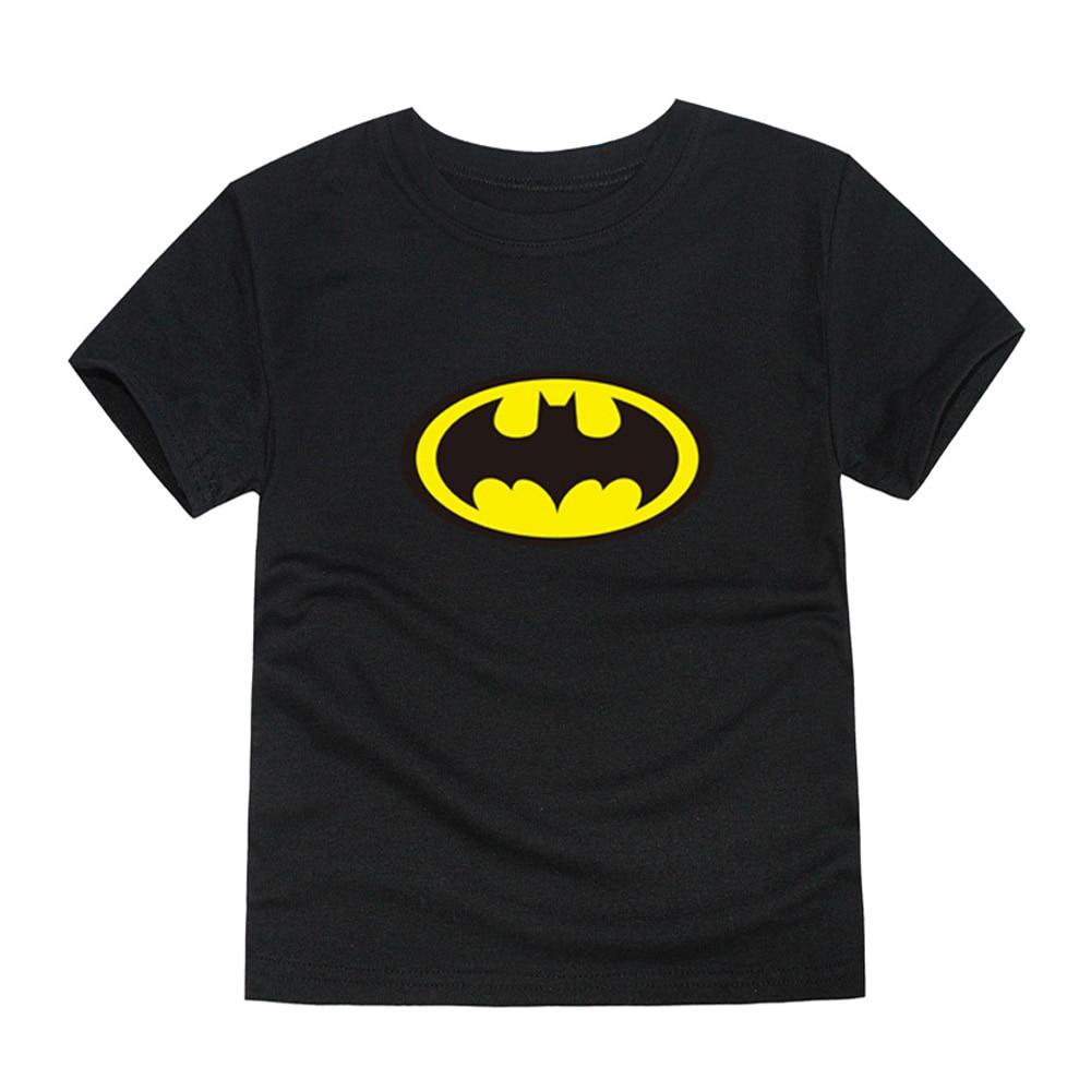 2018 Del Bambino Di Estate Delle Ragazze Batman Magliette Dei Bambini Del Cotone Spiderman T-shirt Ragazzi Tee Estate Scherza I Vestiti Per 1-14 Anni 12 Colori