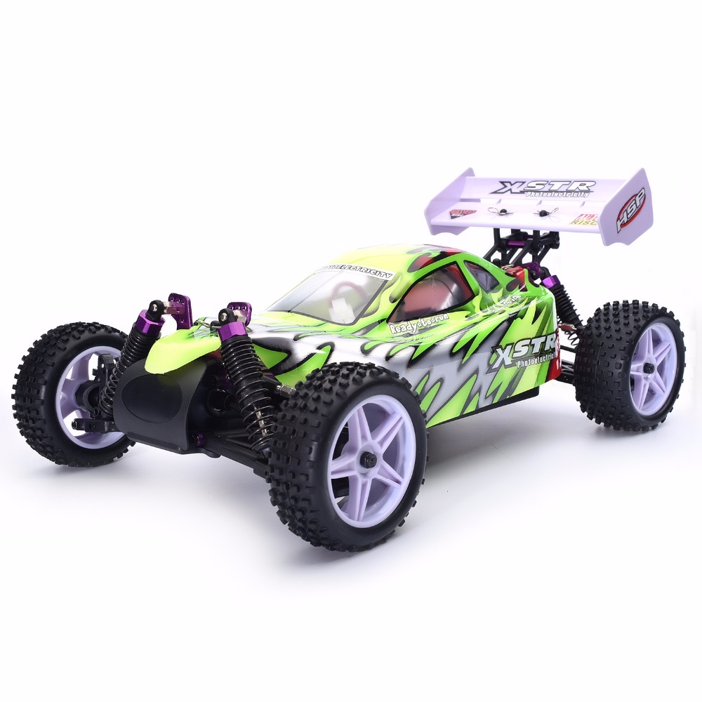 HSP Rc Car 1/10 Scale 4wd Electric Power Off Road Buggy 94107 High Speed Hobby Remote Control Car 02023 clutch bell double gears 19t 24t for rc hsp 1 10th 4wd on road off road car truck silver
