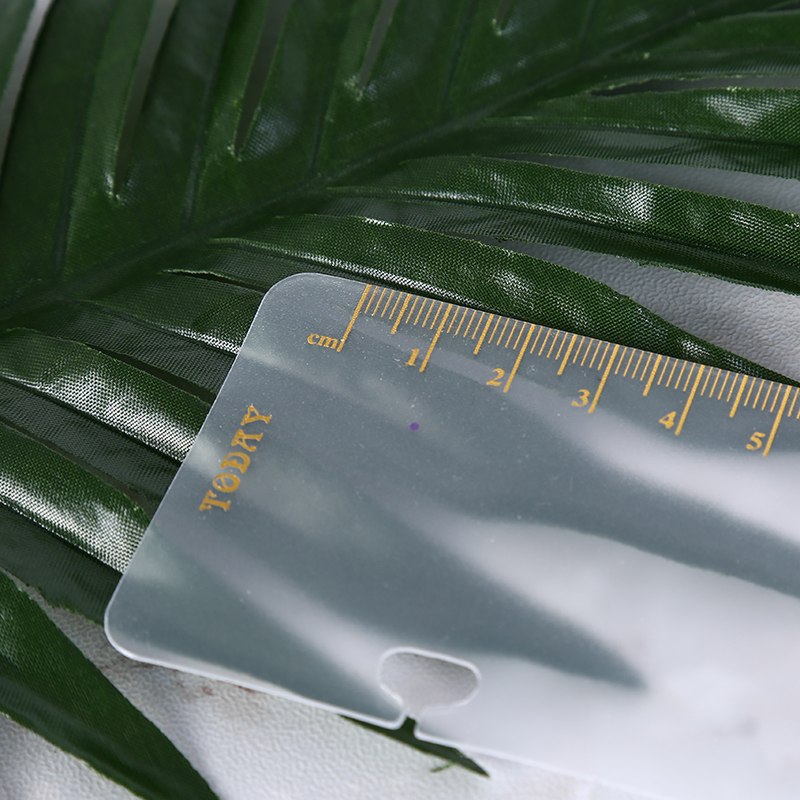 Office & School Supplies Rulers Frosted Planner 6 Holes Loose Leaf Spiral Sketchbook Bullet Accessories Diy Pvc Coil Notebook Bookmark Ruler