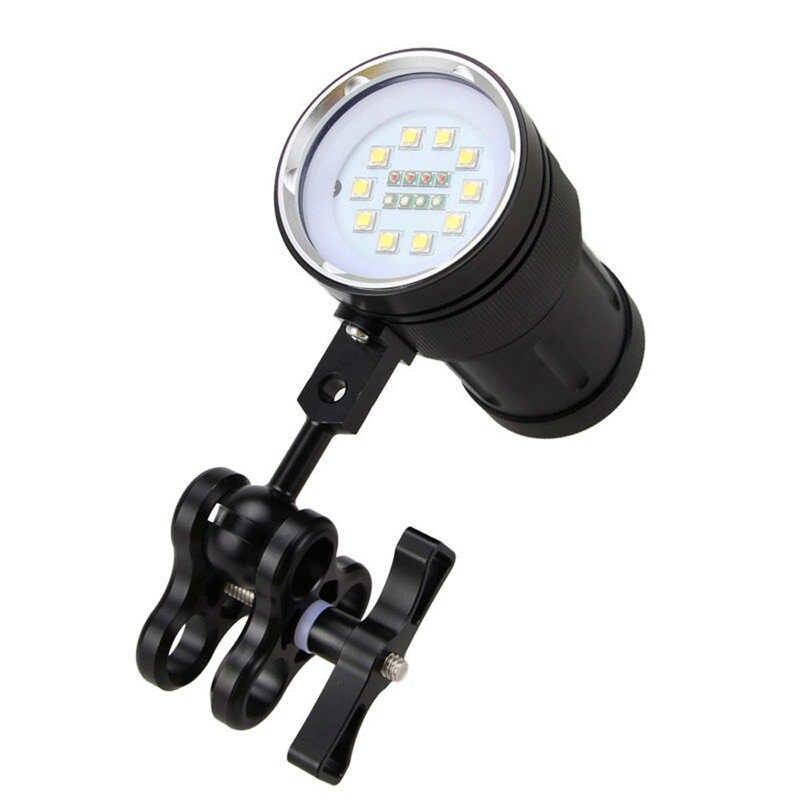 10x XM-L2 + 4x LED Photographie Plongée sous-marine lampe de Poche Torche étanche led lampe de poche 18650 lanterna led t6 fanatique #4o8
