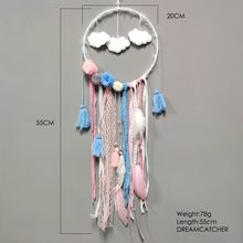 Boho PomPom Feather อินเดีย Dream Catcher Teepee (China)