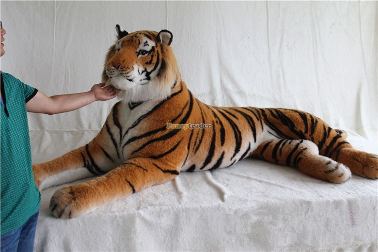 Fancytrader Just As Real Tiger! 87\'\' 220cm Rare in World! Huge Giant Plush Stuffed Emulational Tiger FT90282 (4)