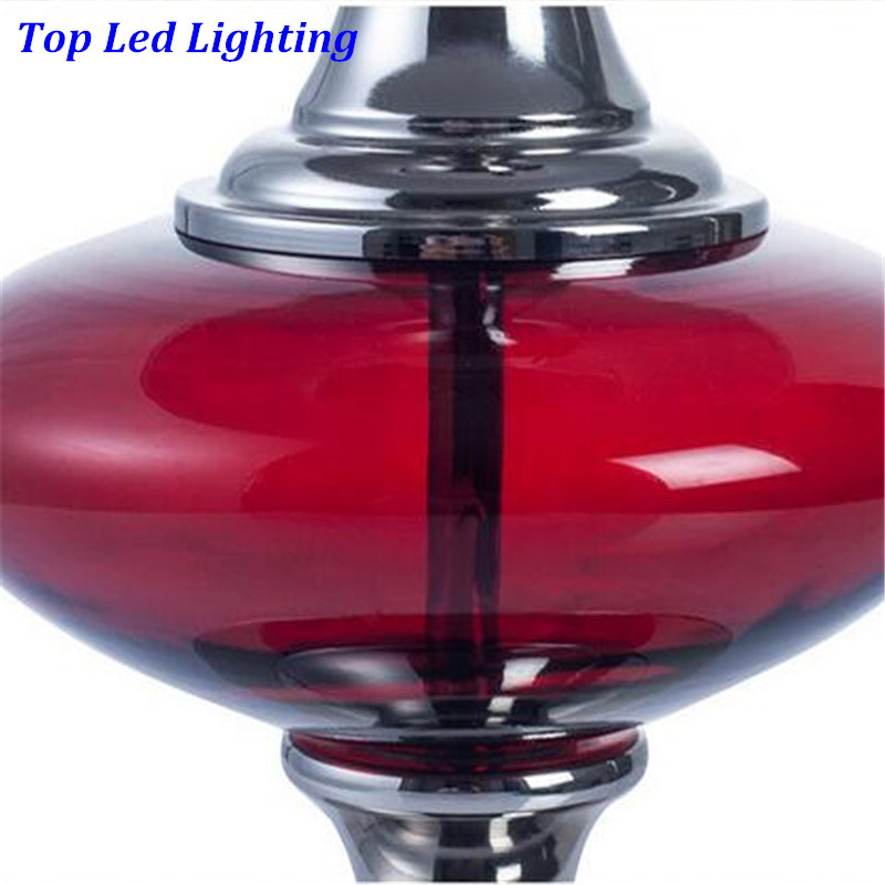 Moderna modna crvena staklena tkanina E27 Dimmerabla stolna - Unutarnja rasvjeta - Foto 5