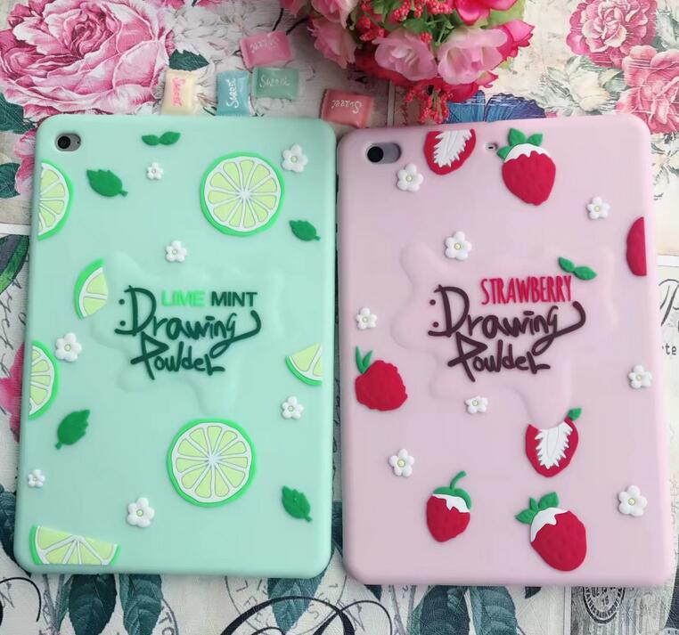 For iPad pro 9.7 air 3 2 1 For iPad 2 3 4 5 6 7 soft case Cute 3D Silicon Cover coque For ipad mini 4 3 2 1 Tablet Cases+film for ipad air 1 2 cute candy color soft silicone tablet case cover for ipad 5 6 mini 2 3 fashion slim lovely protective sleeve
