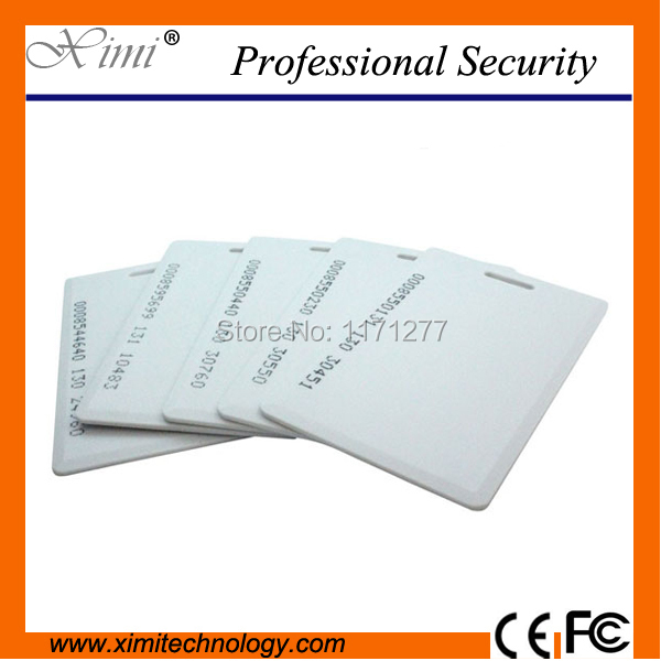 ID Thick Card TK4100 chip ABS EM 125KHZ for time attendance & access control 2mm thickness RFID card proximity card rfid contactless card proximity id card rfid iso pvc card time attendance for access control 125khz with tk4100 em4100 chip