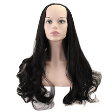 JOY&BEAUTY U Part 7 Clips In Long Straight Hair Synthetic Women Wig Natural Black False Hair Cosplay Classic Wig Africa American(China)