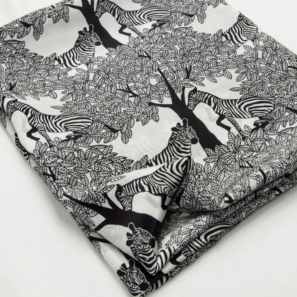 Fashion Black & White Farbe Bäume Anlage Zebra Tier Muster reiner ...