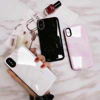 For iPhone X Battery marble Case 6000mAh Rechargeable External Battery Portable Power Charger Protective Charging Case