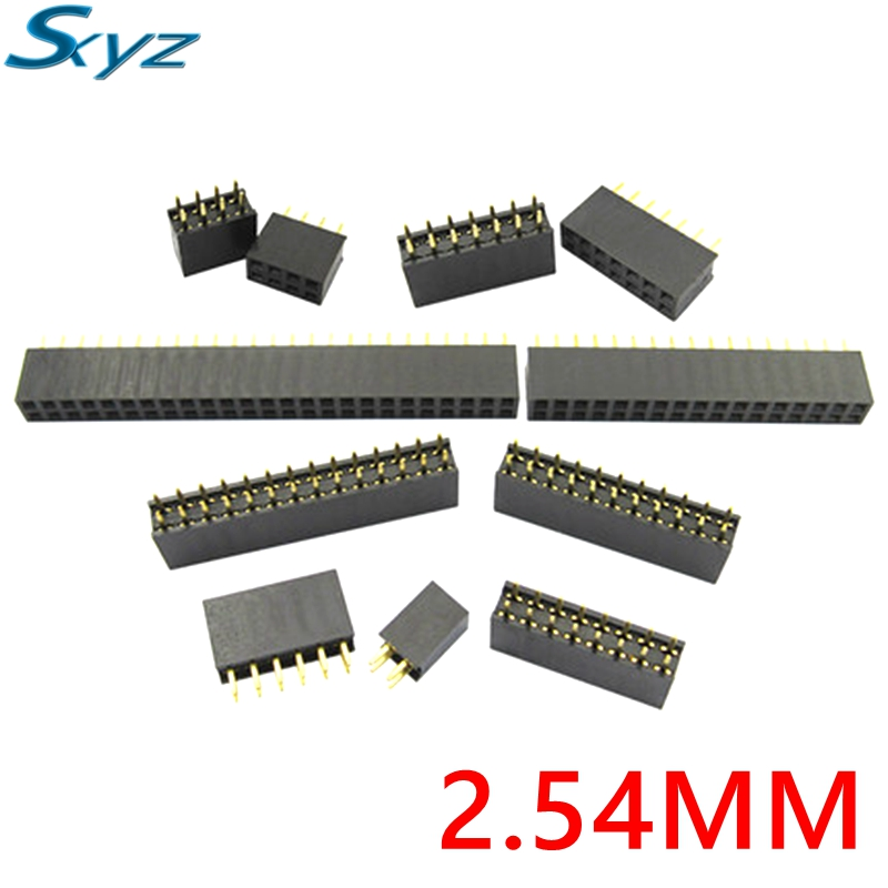 2x2/3/4/5/6/7/8/9/10/11/12/13/14/15/16/17/18/20/25/40Pin Pitch 2.54mm Double Row Stright Female Pin Header Strip PCB Connector free shipping 6pcs lot high quality apc propeller cw and ccw 17 8 16 8 15 8 14 7 13 6 5 12 6 11 5 5 11 7 10 5 10 6 10 7 10 10