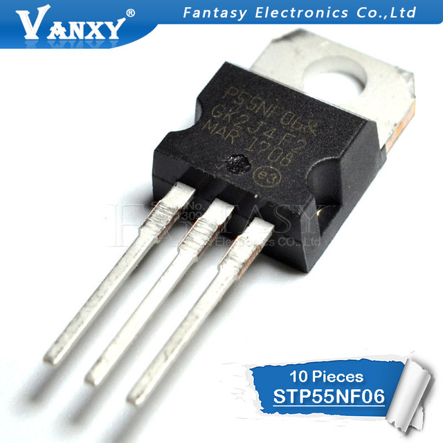 10PCS STP55NF06 TO-220 P55NF06 TO220 55NF06 new MOS FET transistor