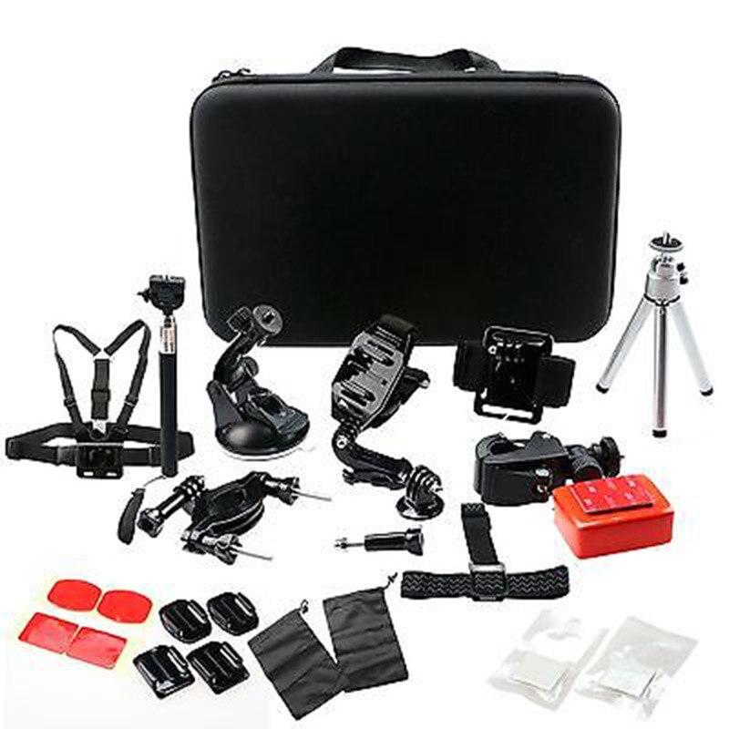 Gopro Accessories KIT Head Chest Strap Floaty Monopod Tripod Case For GoPro Go Pro Hero 3+ 4 5 sjcam XIAOMI YI sports camera цена