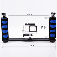 Handheld Handle Hand Grip Stabilizer Rig Underwater Scuba Diving Dive Tray Mount For Gopro Hero Camera