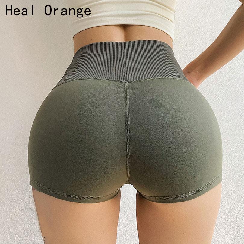 Seamless Fitness Jogger Yoga Shorts Tight Women High Waist Solid Sport Workout Shorts Slim Tummy Control Gym Athletic Shorts