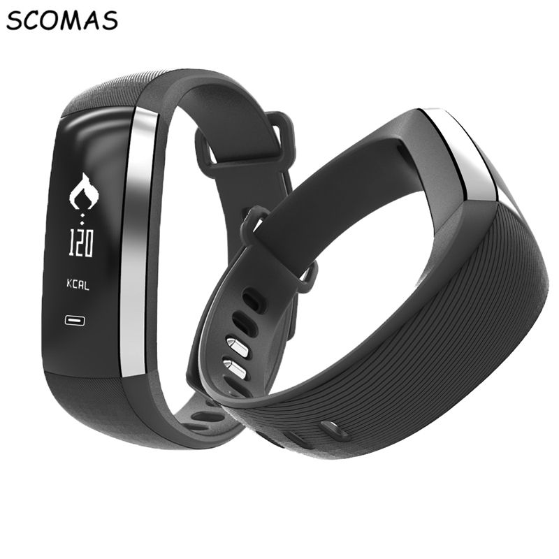 SCOMAS M2 Smart Bracelet Heart Rate Blood Oxygen Monitor Sport Fitness Tracker Bluetooth Smart Watch Sleep