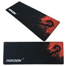 Брендовый большой игровой коврик для мыши с замочком краем Красный Дракон 30*80 см скорость/Управление версия коврик для мыши для Dot 2 Lol