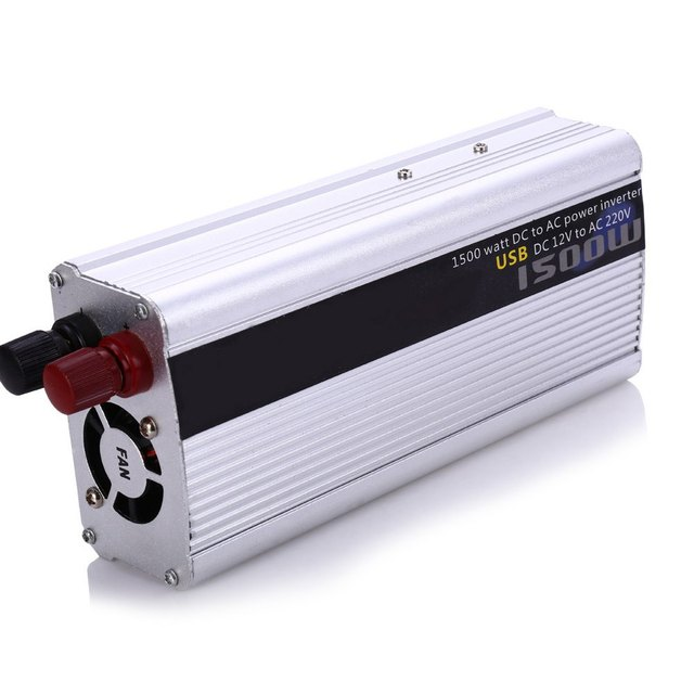 Car Inverter 1500W DC 12V AC 220V Vehicle Power Supply Switch On-board Charger Free Shipping