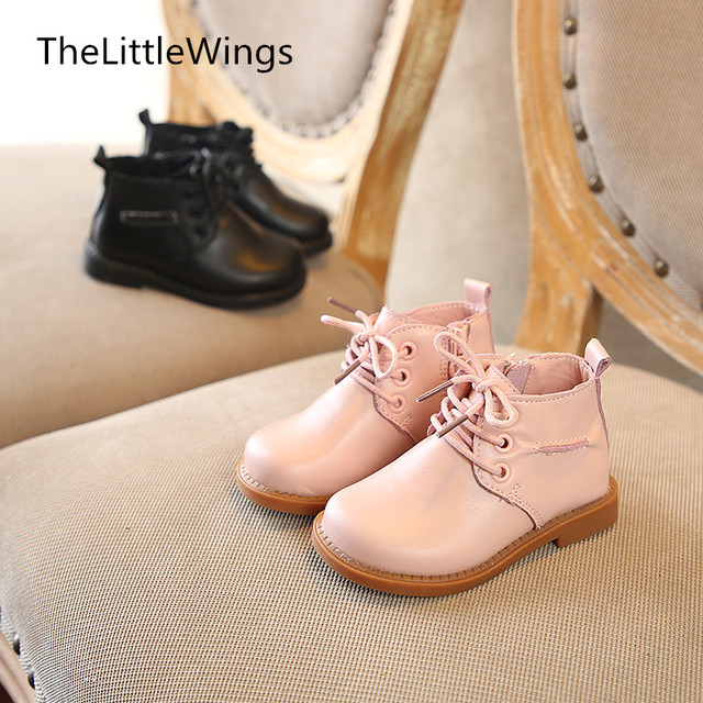 2018 New children's camouflage Martin boots 1 year old 8 girls baby boys snow boots British style shoes genuine leather boots Girl's Shoes