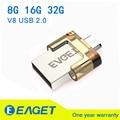 Eaget Оригинальный 8 ГБ 16 ГБ 32 ГБ V8 micro USB OTG Флэш-Накопитель Drive USB 2.0 для Смарт-Телефон Tablet PC Компьютер 32 ГБ Memory Stick