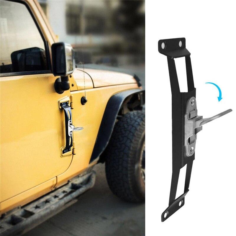 Door Hinge Side Foot Pedal Step Metal Solid Steel For Jeep Wrangler JK