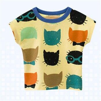 2019 di Modo Del Bambino Del Cotone Dei Ragazzi T-Shirt Per Bambini Vestiti di Estate del Bicchierino-manicotto Maglietta a maniche lunghe Per Bambini Vestiti del Bambino Del Ragazzo Del Fumetto Tee magliette e camicette