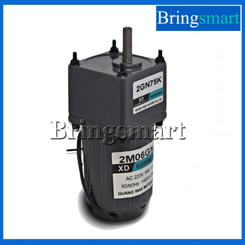Bringsmart 220V AC Gear Motor 6W Single Phase Reversing Motor Low Speed High Torque Motor With Speed Controller 40w ac 220 240v 50 60hz low rpm gear reducer motor and speed controller cw ccw reverse forward motor variable speed optional