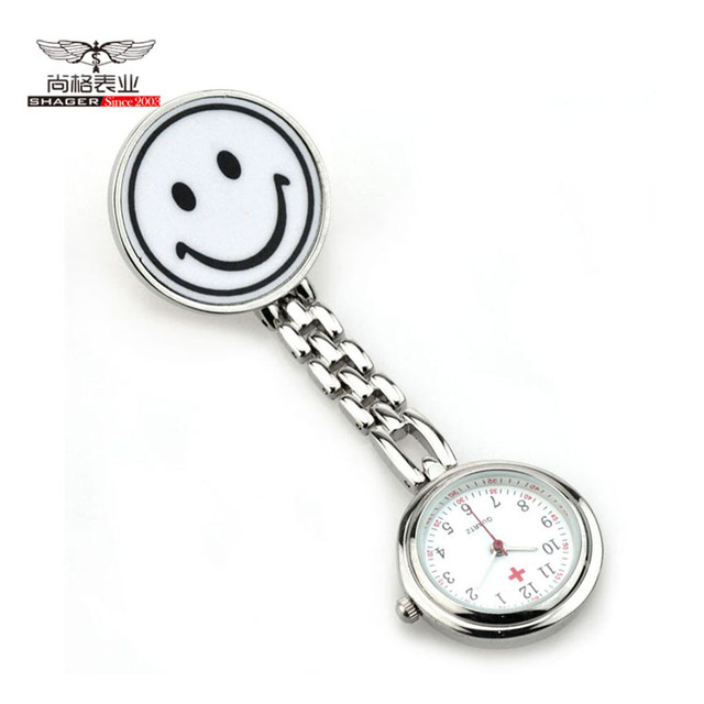 New Smile Medical Nurse Watch With Safety Brooch Pin Hanging Pocket Nurse Fob Watch For Women Ladies Gifts