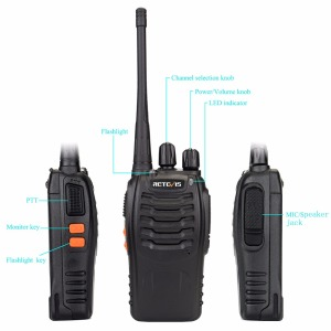 Image 2 - Walkie Talkie 5pcs Retevis H777 3W 1 3Km Range Portable Two Way Radio Walkie Talkies Set for Factory/Warehouse/Construction site