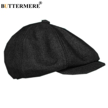 BUTTERMERE Linen Mens Newsboy Cap British Style Spring Summer Black Male Flat Breathable Brand Beckham Beret Hat