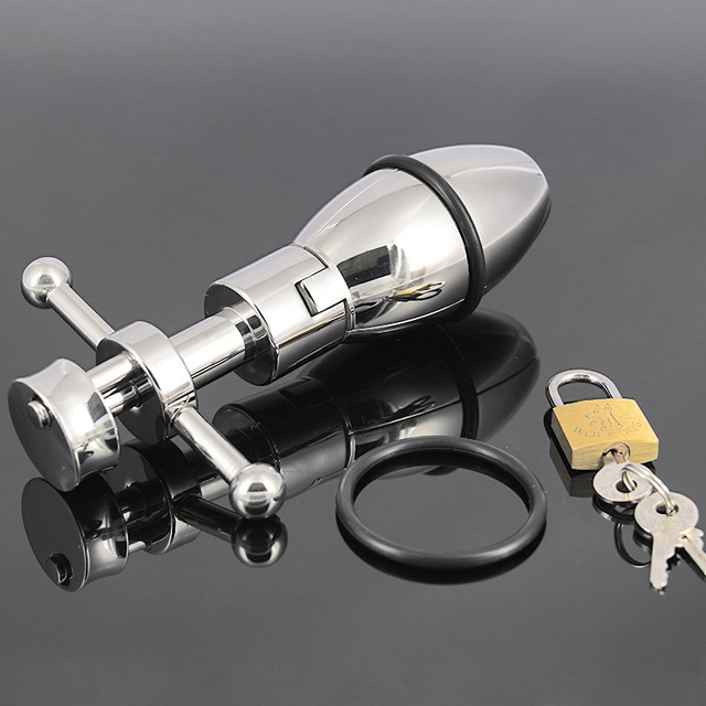 650g Quality 304 Stainless Steel Metal Openable Anal Plugs Heavy Anus Beads Lock with Handles Sex Toys Adult Products