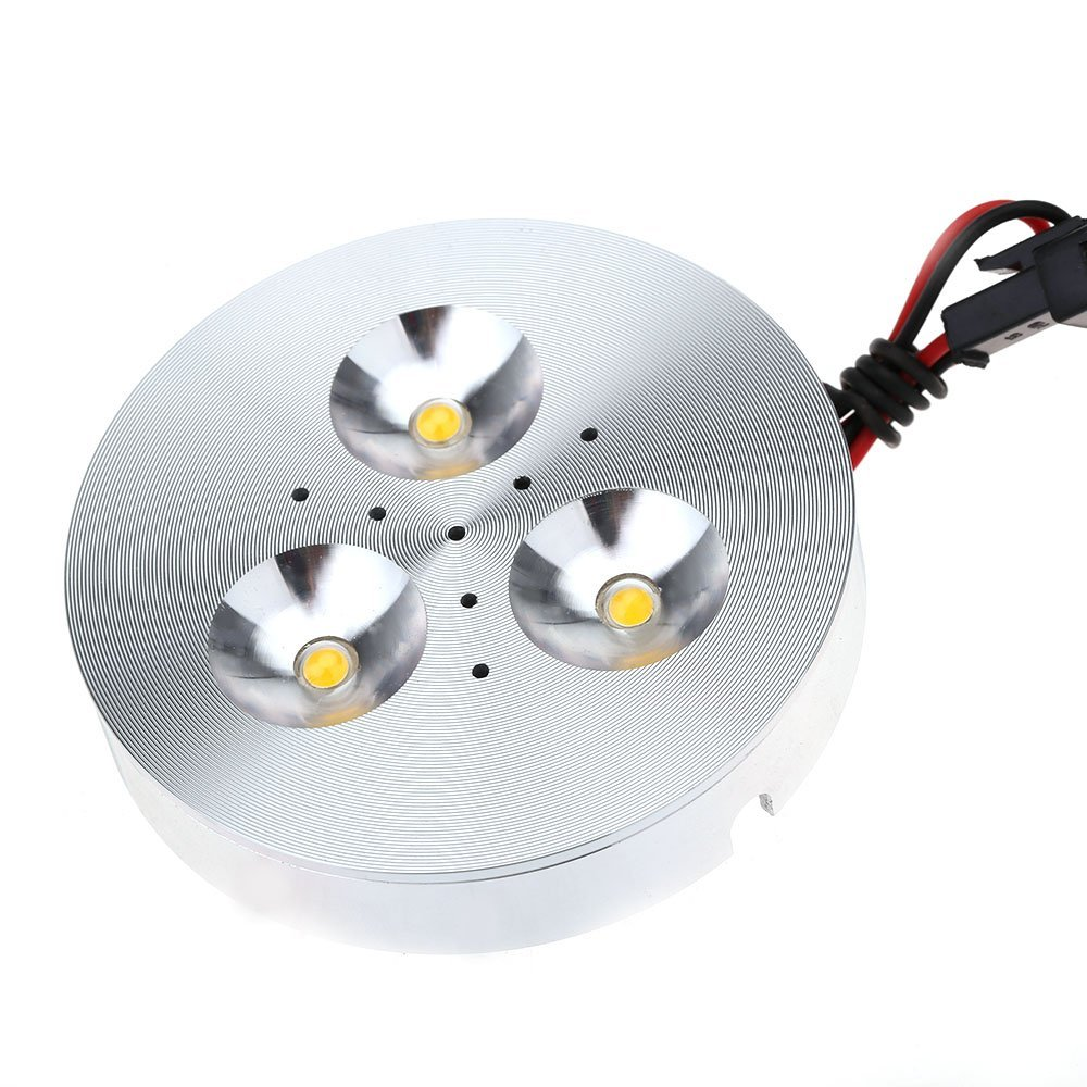 Aluminum 3 LED AC 90-240V 3W Under Cabinet Light Night Lamp with Driver for Closet Cupboard 2700K-3200K