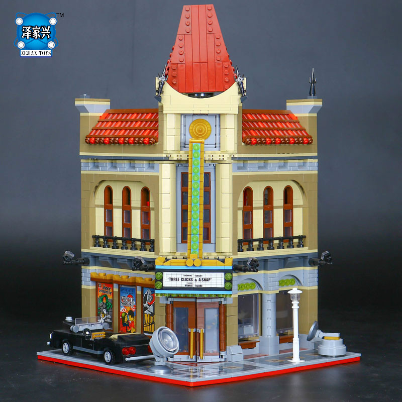 2017 New 2354pcs Genuine Palace Cinema Model Educational Building Blocks Set Bricks Funny Toys Compatible Lepines Figures Gift 2016 new lepin 15006 2354pcs creator palace cinema model building blocks set bricks toys compatible 10232 brickgift