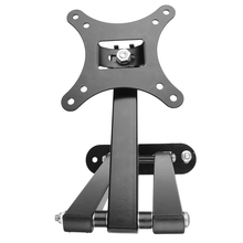 "Plsama Ultra Slim Tilt Swivel TV wall mount bracket for 10-70 inch VESA 50-400mm 73 Black Tilt & Swivel 14""-26"""