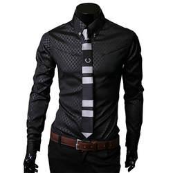 Для мужчин рубашки в клетку брендовая 5XL 2018 Новые мужские туфли рубашки с длинным рукавом Slim Повседневное черный, белый цвет социальных