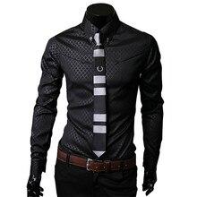 Men Plaid Shirts Brand 5XL 2018 New Mens Dress Shirts Long S