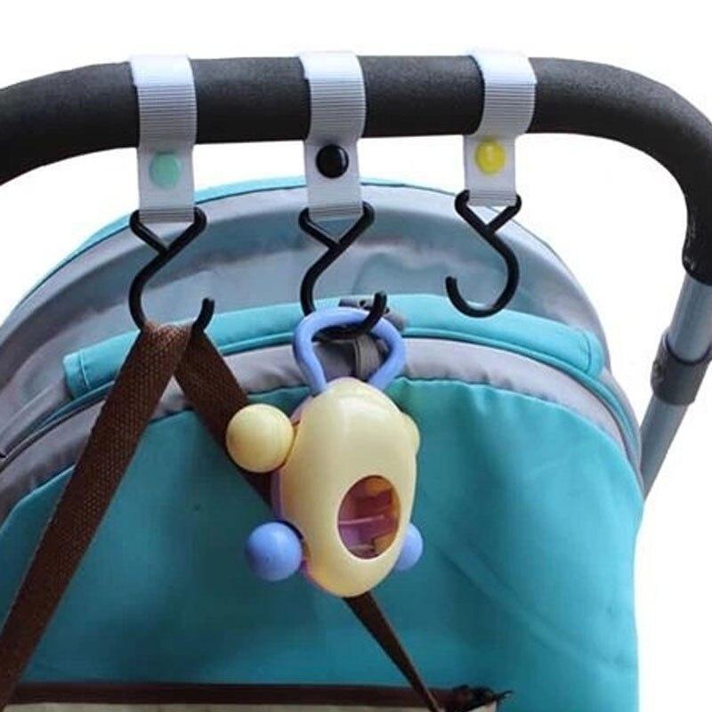 1 Pcs Baby Kinderwagen Zubehör Haken Multifunktionale Schwarz Hohe Qualität Kunststoff Magie Stuhl Griff Suspension Aufhänger Last-lager Gesundheit Effektiv StäRken