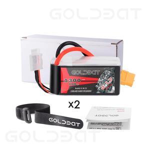 Image 5 - GOLDBAT Lipo 배터리 1300mAh 4S 100C 14.8V Softcase 팩 RC 자동차 트럭에 대 한 XT60 플러그 Heli 비행기 UAV 드론 FPV 레이싱 2pac