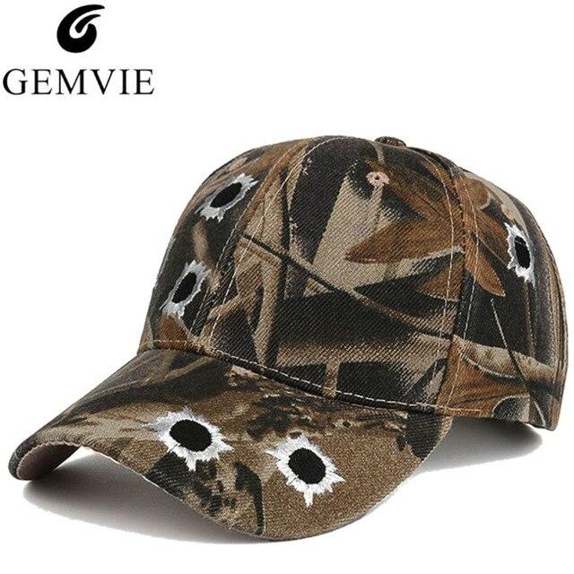 00b901480378 € 4.37 |Algodón bordado agujero de bala camuflaje gorra de béisbol para  hombres Snapback Casual gorras al aire libre papá Hip Hop tapa sombrero en  ...