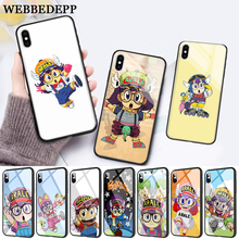 WEBBEDEPP Anime Dr. Slump Arale Little Girl Glass Phone Case for Apple iPhone 11 Pro X XS Max 6 6S 7 8 Plus 5 5S SE