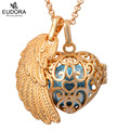 1PC Heart Floating Locket Pendent Angel Wing Baby Ball Harmony Wishing Bola Ball Mexical Ball Angel Caller Necklace