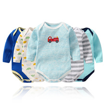 YUANTENG 5pcs Spring Unisex Baby Clothes Cartoon Cotton