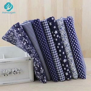 Width half meter 150cm Navy 100% Cotton Fabric for Patchwork DIY Crafts Sewing Material Tilda Doll Cloth(China)