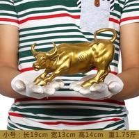 office business stock market Mascot efficacious Talisman Money Drawing gold Charging Bull brass statue