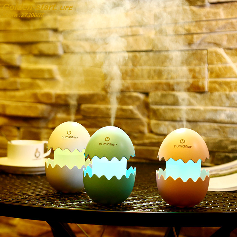 Cute Egg Ultrasonic Air Humidifier USB Air Humidifier Office Household Essential Aroma Oil Diffuser USB Car Humidifier Fogger dmwd ultrasonic car air purifier solar energy office household aroma humidifier negative ions remove formaldehyde haze and pm2 5