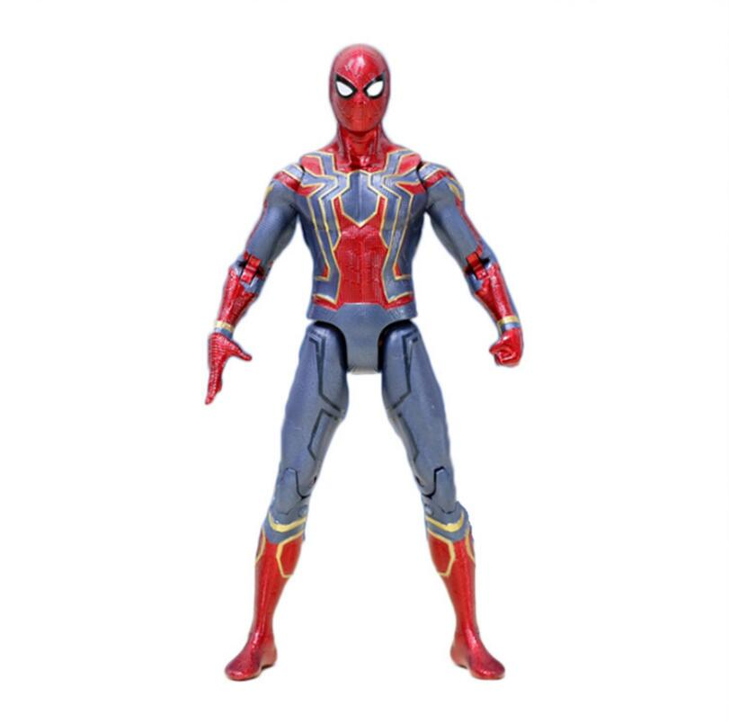 17cm Marvel the Avengers 3 Infinity War Iron Spider Man Amazing Spiderman Movable Action Figure model toys for Children gift free shipping the avengers the amazing spider man movie spiderman will light 17cm pvc action figure toys new christmas gifts
