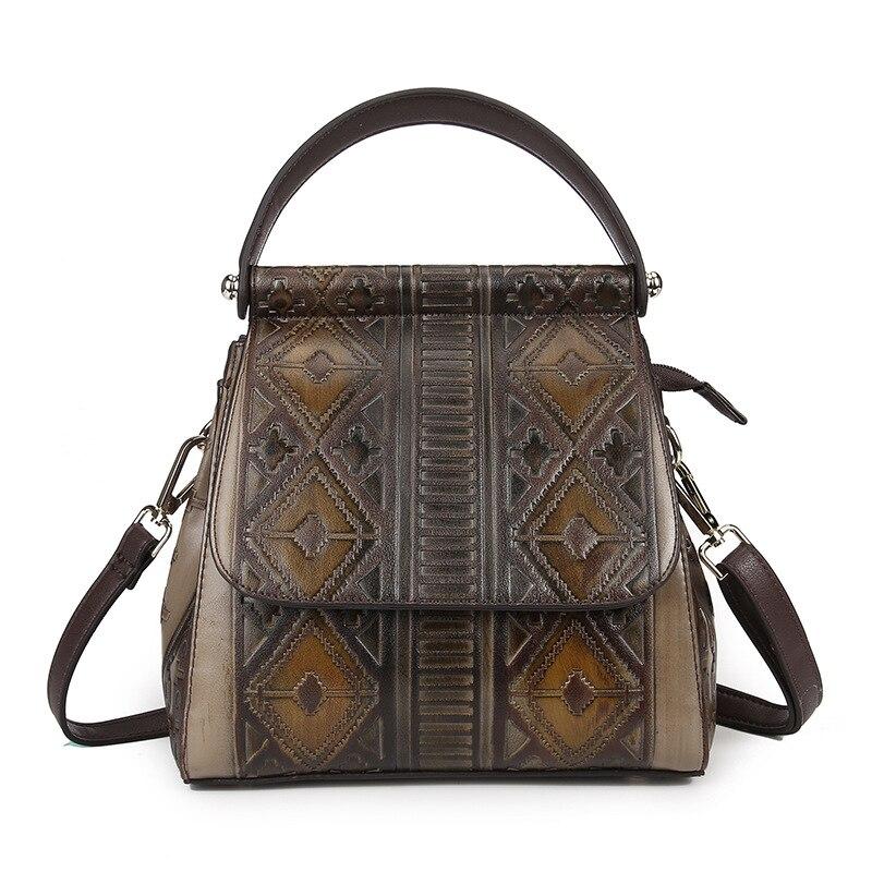 Vintage Women s PVC Shoulder Sling Bag Crossbody Bag Tote Pouch Backpack LS A80003