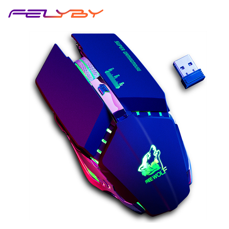 FELYBY X11 Gaming Game Wireless Mouse 1600DPI 6 Button Glowing Cool Mouse for Computer and Laptop