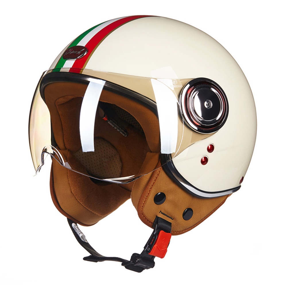 Новый ЕЭК мотоцикл чоппер шлем 3/4 открытым лицом старинные шлем 110DY Мото шлем КАСКО шлемы мотоциклиста лошади унисекс