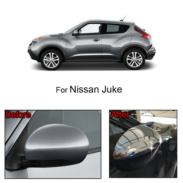 MISIMA 2Pcs Exterior Accessories Door Side Mirror Chrome Trim Covers Rear View Cap For Nissan Juke 2011 2012 2013 2014