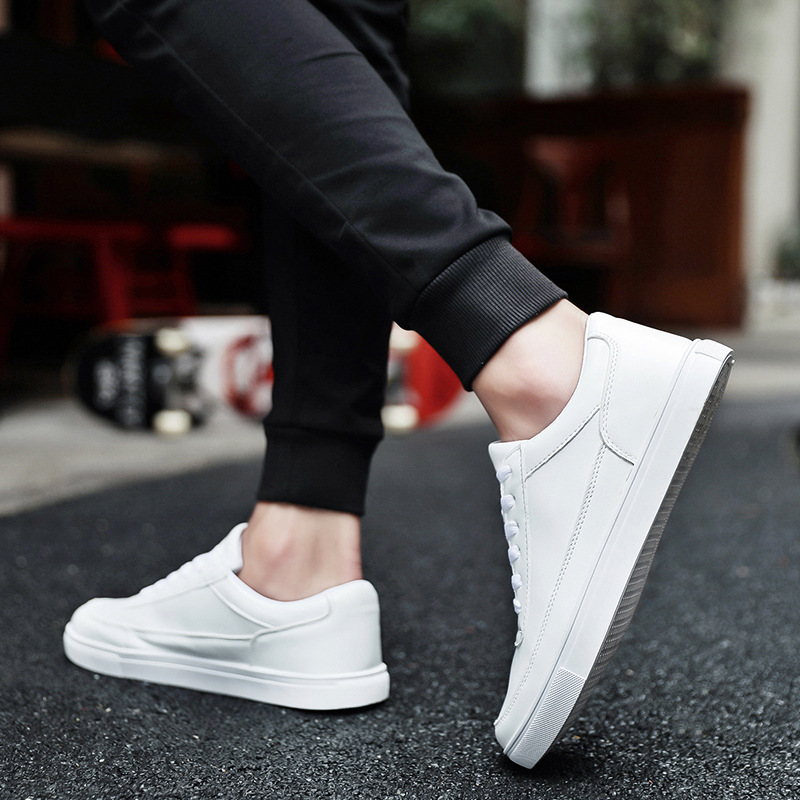 Casual Shoes Man Flats Breathable Shoes Pu Leather Fashion Flat Classic Outdoor Male Mens Canvas Shoes for Men flats in Men 39 s Casual Shoes from Shoes
